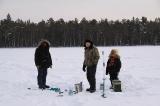 Рыбаки в процесс ловли