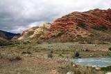 Красные горы по дороге к термальным источникам