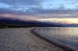 Вечер на озере Иссык-Куль