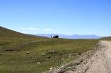 Вид с перевала на озеро Сонг-Кёль