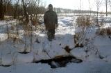 Лёд обрушился на реке