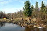 Восстановление моста на реке Кыртовка