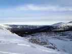 Вид в долину озёр с перевала Волчий