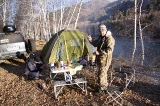 Утро в лагере на реке Чарыш