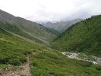 Вдалеке долина реки Шавла