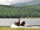 По берегу озера Караколь