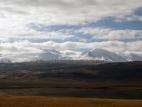 Вид на вершины Табын-Богдо-Ула от озера Гусиное