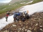 На подъёме к перевалу Аккаинский