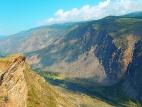 Вид с перевала в долину реки Чулышман