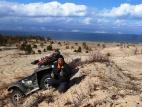 В песчаных дюнах острова Ольхон