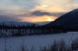 Закат на реке Курейка