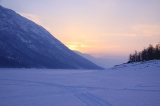 Закат на озере Дюпкун